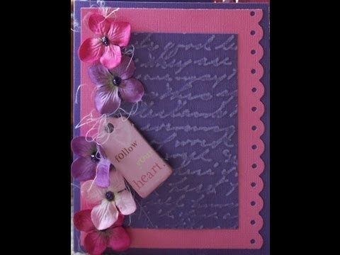 Flowery Girl S Handmade Card With Stickles Youtube