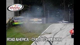 Nascar Xfinity Series - 2017 - Road America - Crash Compilation thumbnail