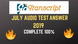 Transcribeme audio test answer 2019