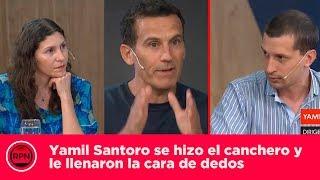 Yamil Santoro se hizo el canchero y le llenaron la cara de dedos