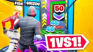 10,000 V-BUCKS FOR THE WINNER of this PARCOURS 1vs1 to 50 LEVELS on Creative Fortnite!