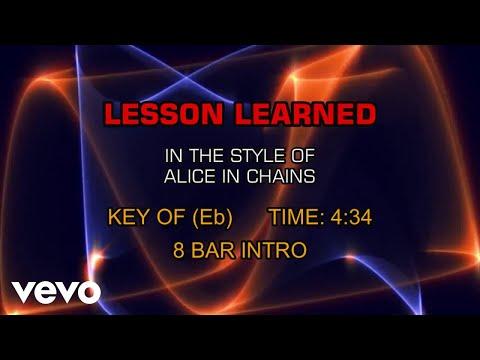 Alice In Chains  Lesson Learned Karaoke