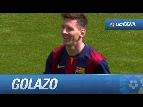 Golazo de Messi (5-0) y hat-trick en el FC Barcelona - Rayo Vallecano