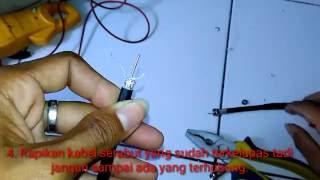 Cara memasang jek konektor F male untuk Antena/CCTV