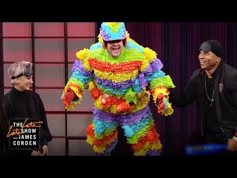 Human Pinata with LL Cool J, Kaley CuocoSweeting & James Corden