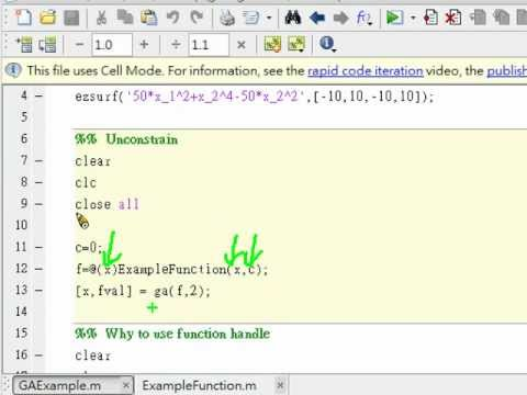 How to use ga algorithm in MATLAB-Part I