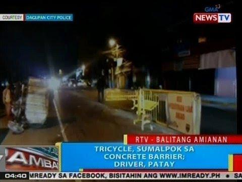 BP: Tricycle, sumalpok sa concrete barrier; driver, patay