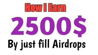 How I Earn 2500$  From Free Airdrops With Live Proof in Urdu Hindi