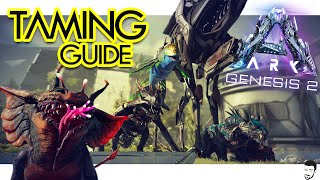 How to Tame ËVERY NEW CREATURE in ARK Genesis 2