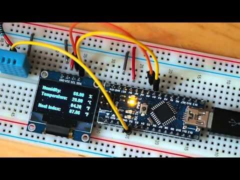 Arduino-er: Temperature & Humidity monitor using Arduino NANO +