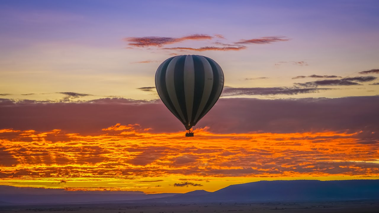 amazing air balloon safari youtube