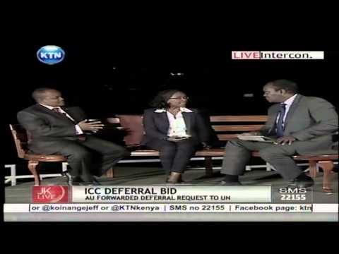 Jeff Koinange Live:ICC deferral bid