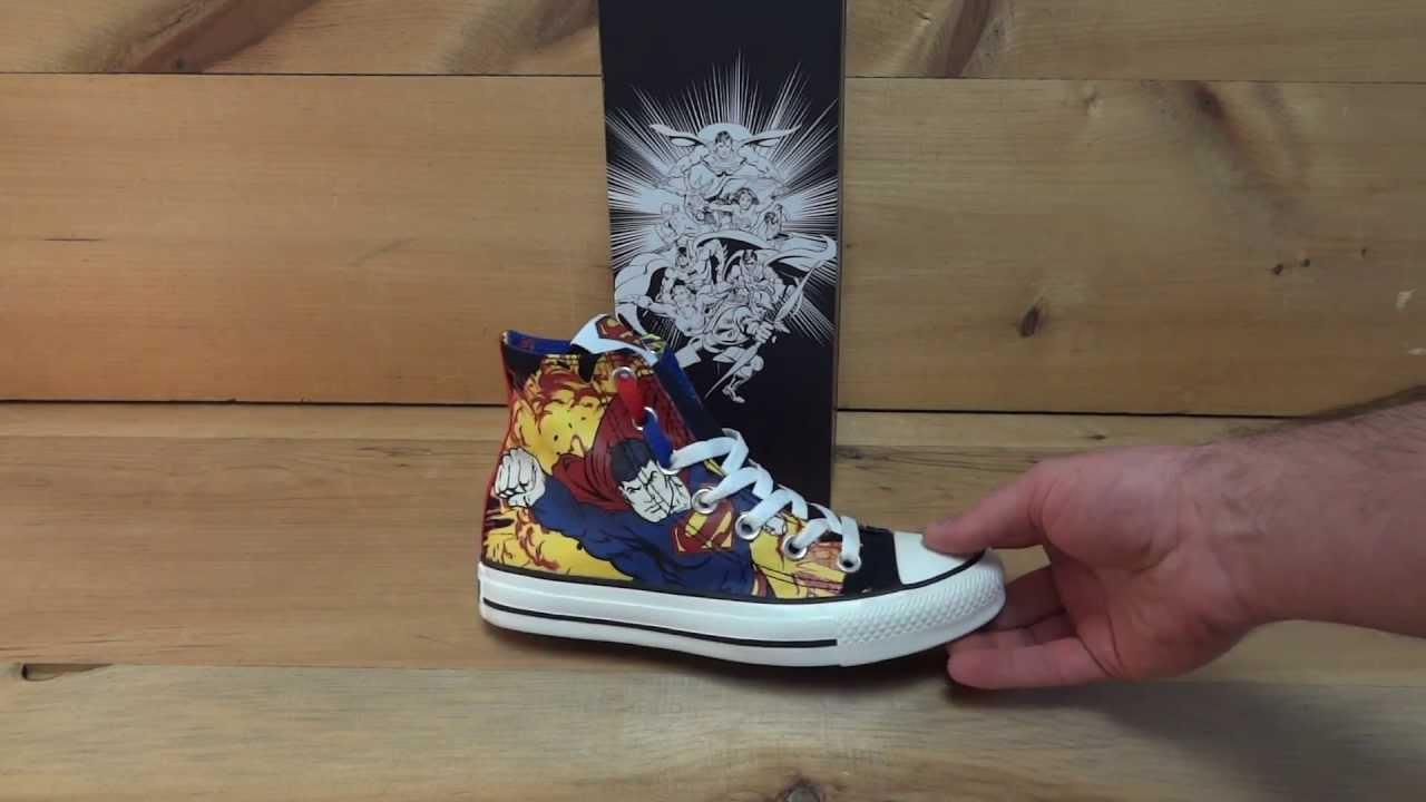 b6274759e4bb1 Converse All Stars Chuck Taylor Superman Shoes - YouTube