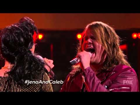 Jena Irene with Caleb Johnson 15 - American Idol S13E26b It's Only Love
