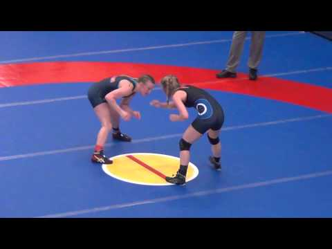 Augello (King) pin Morrison (OCU), 116 semis at 2015 WCWA Nationals