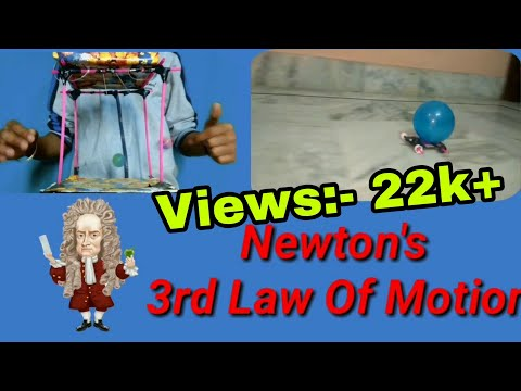 Newton's third law of motion in Hindi|Experiments|Working Model|Science Project|Demonstration