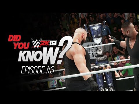WWE 2K18: Did You Know? Dusty Rhodes Classic Cutscenes, Updated Kevin Owens Titantron & More!