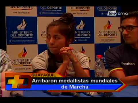 Arribaron medallistas mundiales de marcha