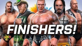 WWE ALL STARS - ALL FINISHERS Animations! (PS3)