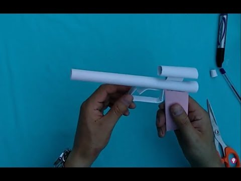 Paper pistol that does not shoot | How to make paper weapons that hurt