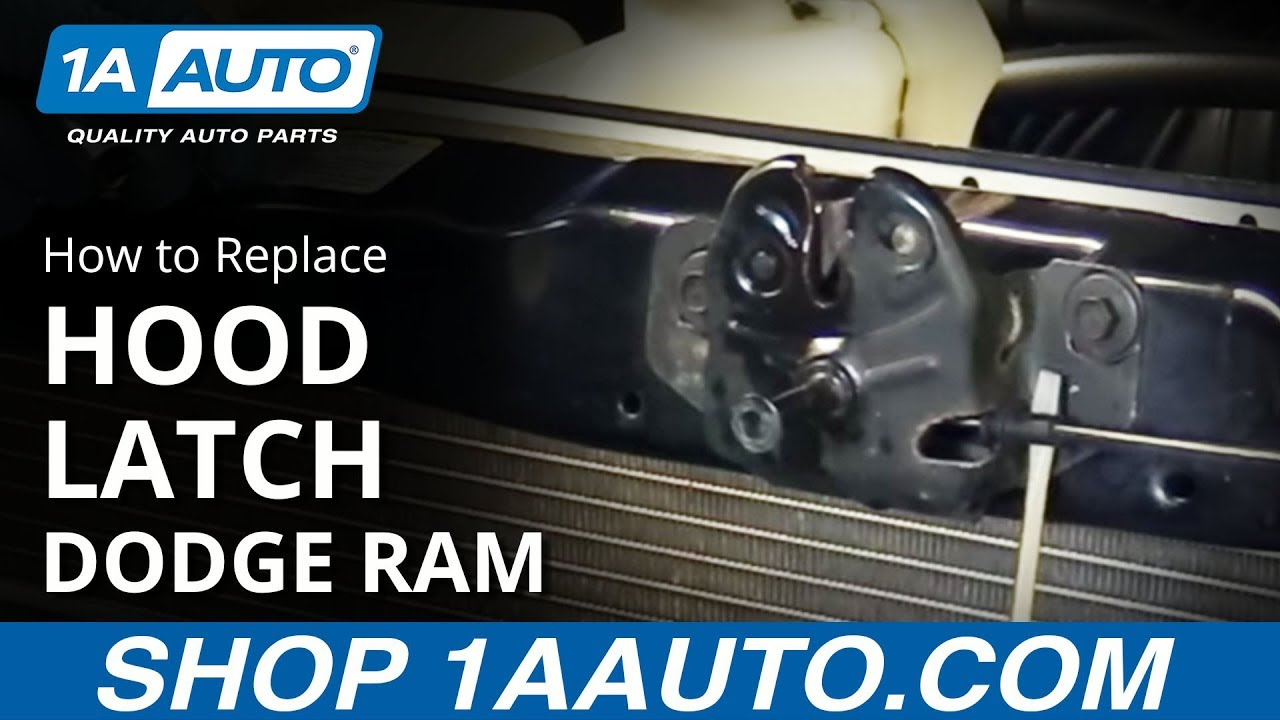 How To Replace Hood Latch Assembly 02 08 Dodge Ram 1500