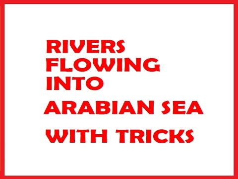RIVERS FLOWING INTO ARABIAN SEA WITH TRICKS @ MAHALAKSHMI ACADEMY
