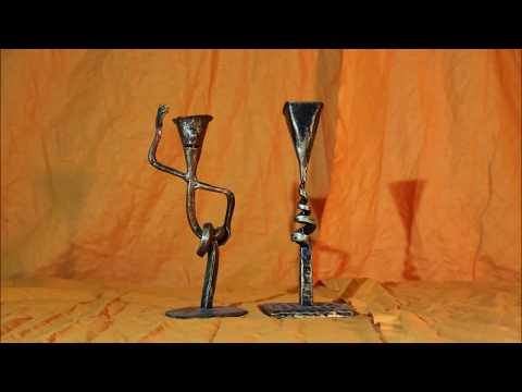 Blacksmith. Candle holder ideas. Metal art .Welding art. Handmade