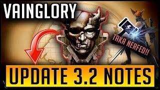 Vainglory Update 3.2 Overview | Hero and Item Balance Changes! | Vainglory Meta