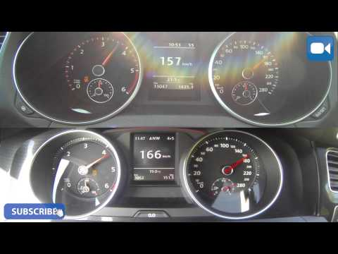 VW Golf GTD MK6 vs MK7 Old vs New 0-200 km/h Acceleration BATTLE!