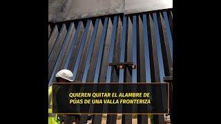 Tucson apoya a Nogales para retirar alambrada de púas en frontera