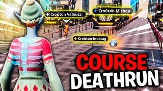QUI VA GAGNER CETTE COURSE DEATHRUN AVEC TOUTE LA TEAM CROÛTON ??! Fortnite Créative Mode