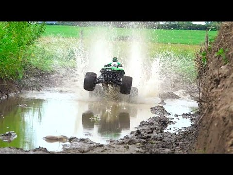 EPS 1000 POWER! Mudding, Jumping, & Track Racing...  RC ADVENTURES