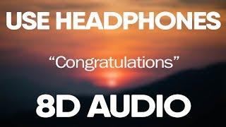 Post Malone ft. Quavo - Congratulations (8D Audio)