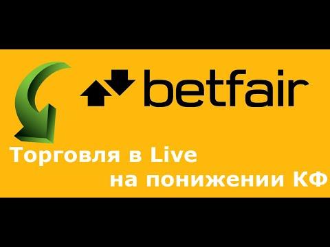 Betfair для самых начинающих. Торговля в Live на понижение кф.