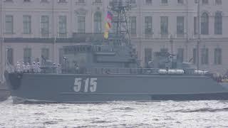 Репетиция военно морского парада 22 июля 2018 в СПб  Часть 2