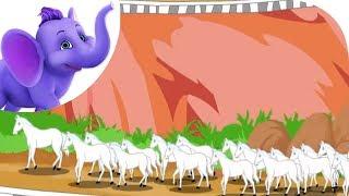 Twenty White Horses - Nursery Rhyme with Lyrics and Sing Along