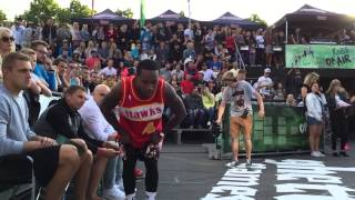 Dunk elite: 5'5 (165cm) porter maberry tribute to spud webb. shuts down kings of air dunk contest!