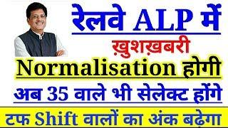 रेलवे ALP में ख़ुशख़बरी अब Normalisation होगी, Cutoff बहुत कम 35 वालों का भी होगा सेलेक्शन