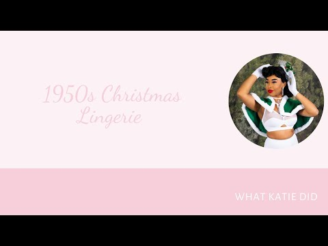 Vintage Inspired 1950s Lingerie by What Katie Did
