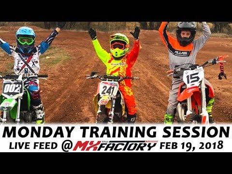 Monday Night Motocross Training - Braking and Leaning Drills - February 19th,  2018