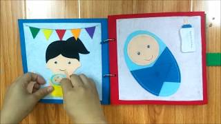 Quiet book - I'm a big sister! -  made by Little Bean's Toy Chest