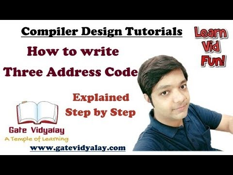 Three address code in compiler design Explained Step by Step