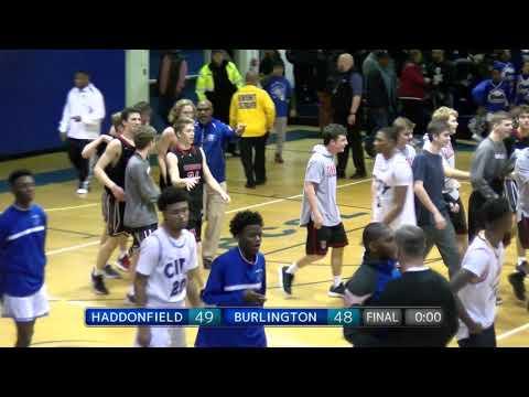 Buzzer beater Haddonfield Basketball vs Burlington 2018