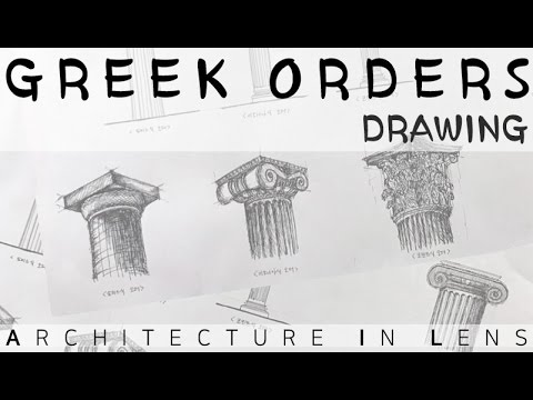 [Architecture Drawing Detail] Greek Classical Orders (Doric, Ionic, Corinthian)