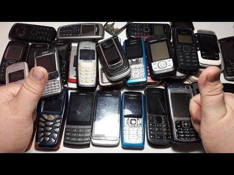 55 Nokia за 10$ !!! Покупка ретро телефонов на шару с аукциона. Кот в мешке что там ?