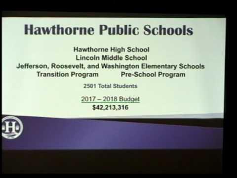 Hawthorne NJ Board of Education Budget Presentation 2017-2018