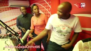 Kanze Dena, Jeff and Jalas dancing in Studio