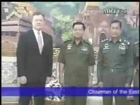 Myanmar - Senior General Than Shwe received U.S. Senator Jim Webb