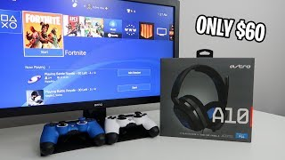 I finally found the perfect PS4 headset ($60 Astro A10 Gaming Headset) (Unboxing, Setup, Mic Test)