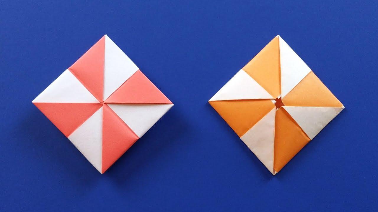 Origami Pinwheel Envelope Flat Paper Gift Box